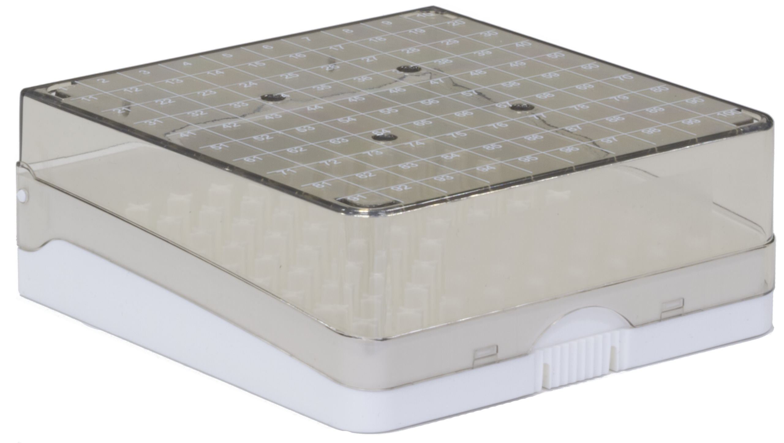 100ct plastic box (white) closed