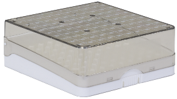 100ct plastic box (white) closed