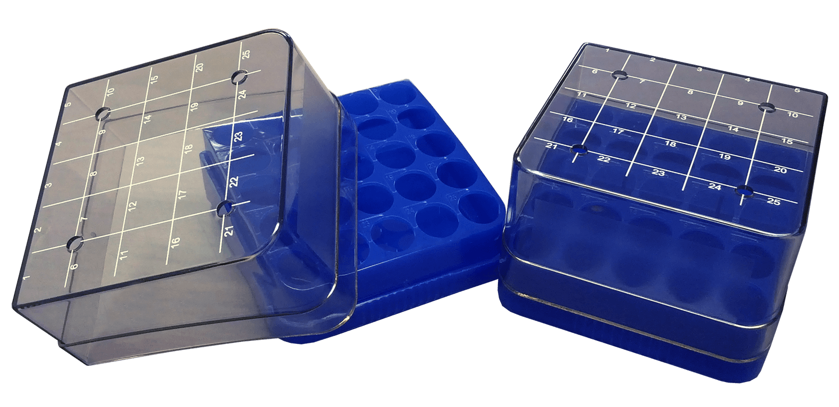 25 ct plastic box (blue) Open Right