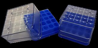 25 ct plastic box (blue) Open Right