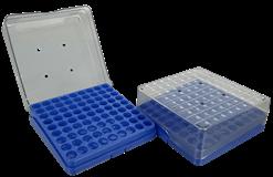 81 ct plastic box (blue) open left